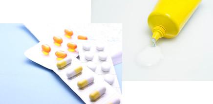 錠剤とクリーム